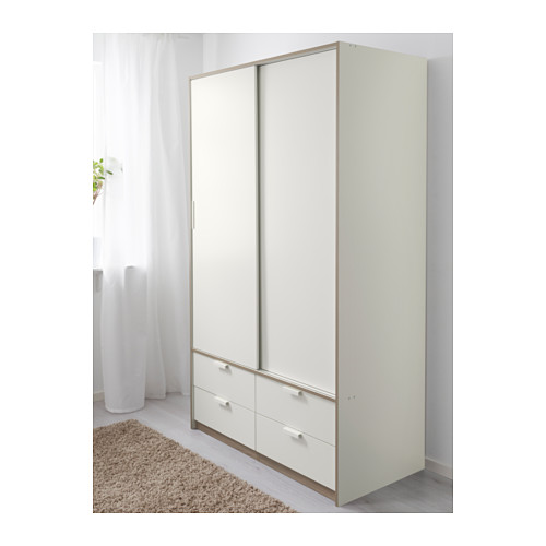 roupeiro trysil portas desliz 4gavetas branco a sua loja de confian a. Black Bedroom Furniture Sets. Home Design Ideas