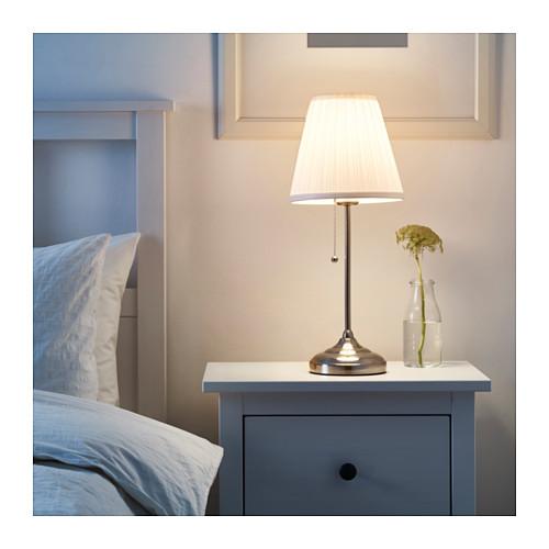 candeeiro de mesa arstid niquelado branco a sua loja de confian a. Black Bedroom Furniture Sets. Home Design Ideas