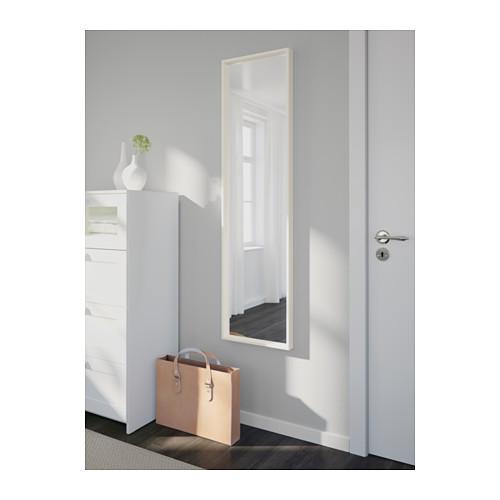 Espelho nissedal 150x40 branco a sua loja de confian a for Miroir horizontal ikea