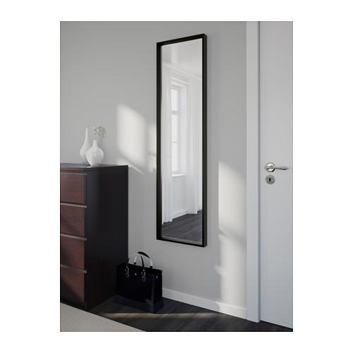 Espelho nissedal 150x40 preto a sua loja de confian a for Miroir horizontal ikea
