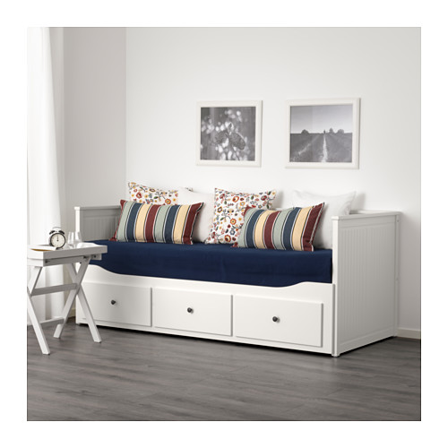 cama individual hemnes com 3 gavetas branca a sua loja de confian a. Black Bedroom Furniture Sets. Home Design Ideas