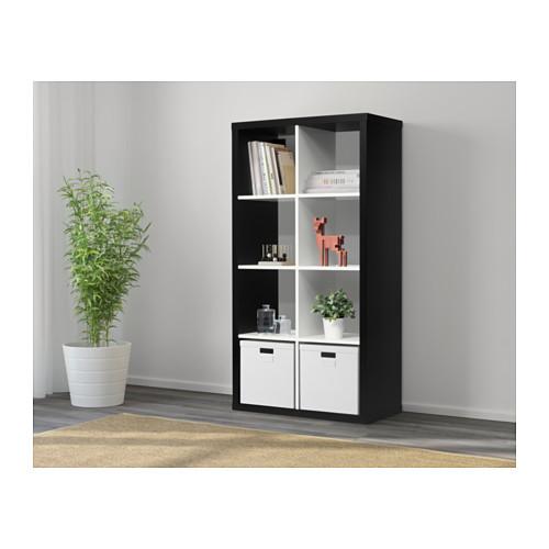estante kallax 8 preto branco a sua loja de confian a. Black Bedroom Furniture Sets. Home Design Ideas